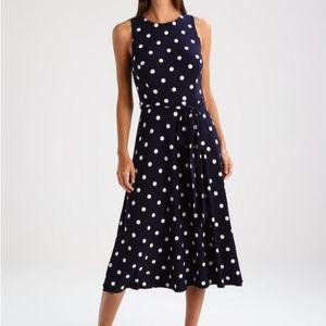 Lauren Ralph Lauren Jersey Polka Dot Dress
